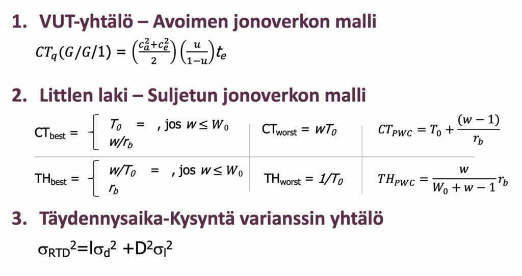 Tehdasfysiikan keskeiset mallit ja kaavat